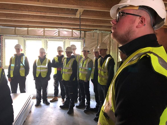 SGS students tour our building site in Filton