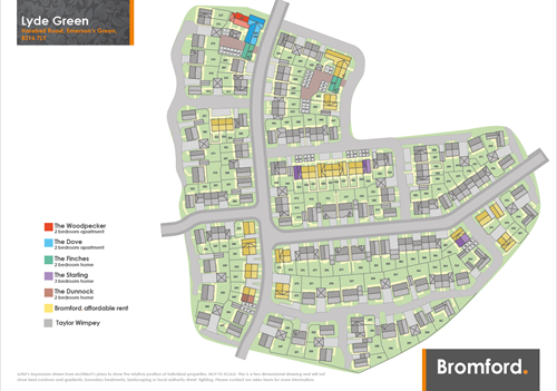 Lyde Green site map