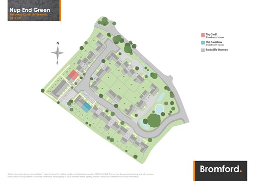 Nup End Green site map