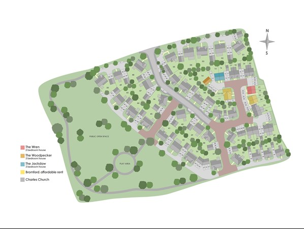 Thurstan Place, Gloucestershire site map
