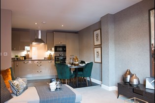 Lichfield One show home kitchen
