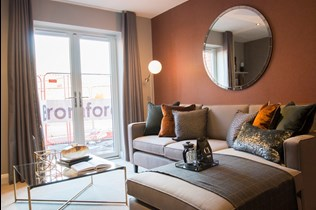Lichfield One show home lounge